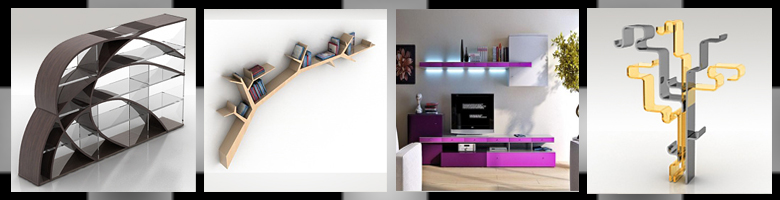 Bookcases & Shelves 3D Models
