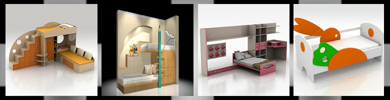 Children Rooms Beds 3D Models
