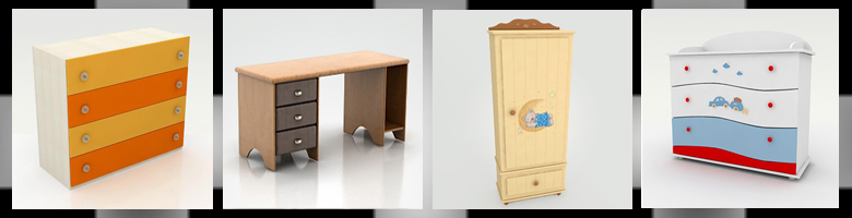 Children Rooms Cabinets & Desks 3D Models