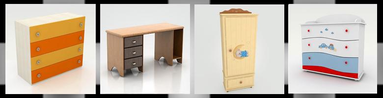 Children Rooms Cabinets & Desks 3D Models
