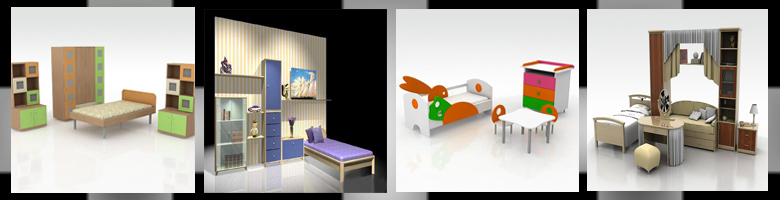Children Rooms Sets 3D Models