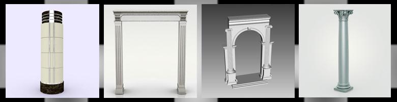Columns 3D Models