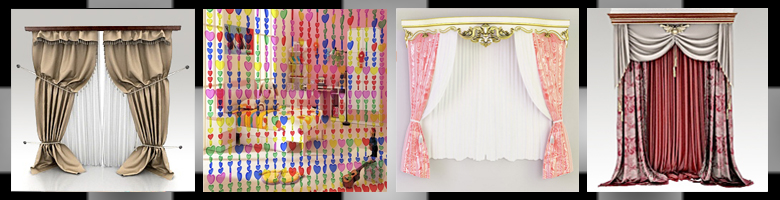 Curtains 3D Models