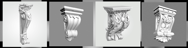 Decorative Brackets 3D Models