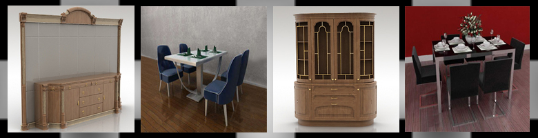 Dining Rooms 3D Models