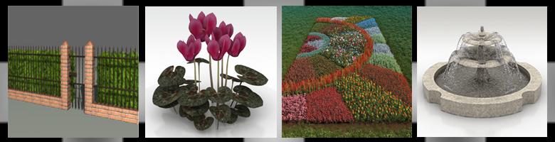 Gardens 3D Models