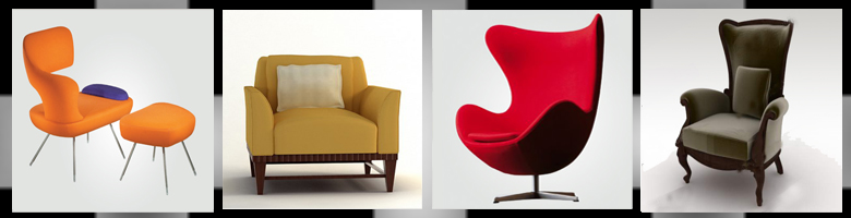 Living Rooms Chairs 3D Models