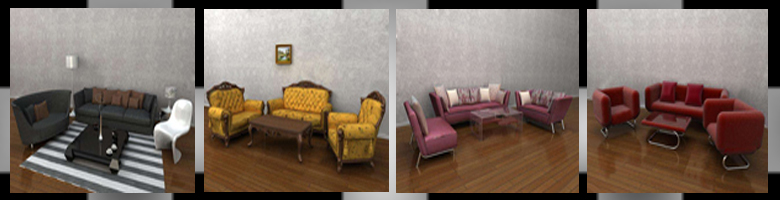 Living Rooms Sets 3D Models