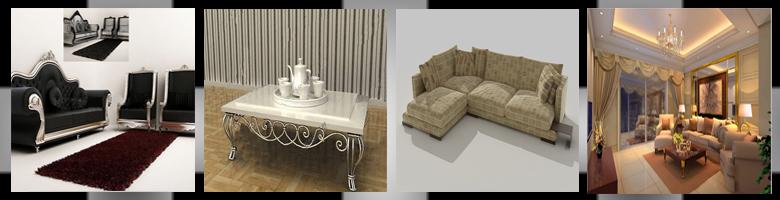 Living Rooms 3D Models