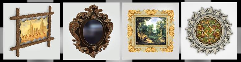 Mirrors & Frames 3D Models