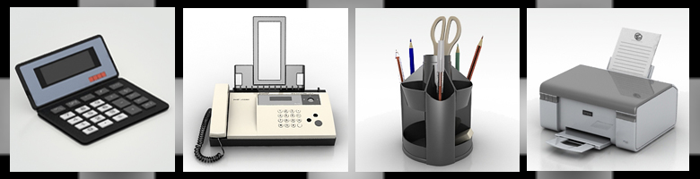 Office Supplies 3D Models