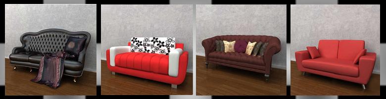 Sofas 3D Models