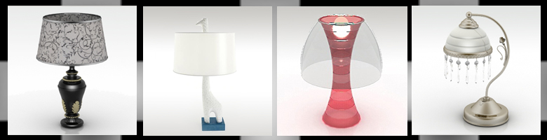 Table Lamps 3D Models