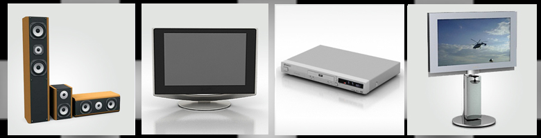 Televisions & Stereo 3D Models