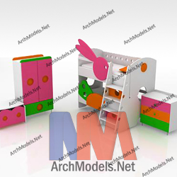 children-room-set_00005-3d-max-model